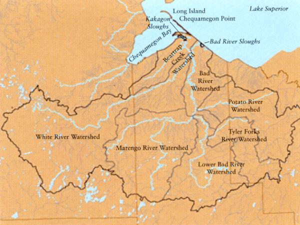 Bad River Watershed Map
